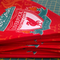 Fabric Bunting made using Liverpool Football Fabric CUSTOM ORDER JENNIE