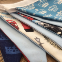 London Bunting, Handmade with Famous British Icons Fabric