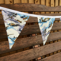 Spitfire Bunting with Vintage War Planes WW1 WW2, Father's Day Gift