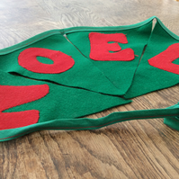 NOEL Christmas Bunting in Green and Red
