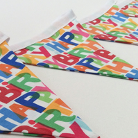 Fabric Bunting, Happy Birthday, Party Decoration, Celebration, Event