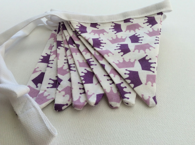 Princess Bunting, in Lilac & Purple Crowns, Bedroom, Decoration, Party