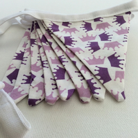 Princess Bunting, Lilac & Purple Crowns, Bedroom, Decoration, Party