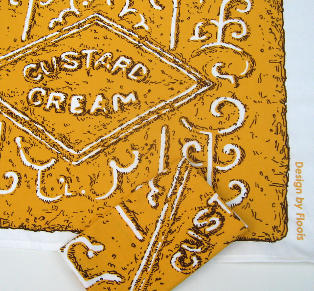 SALE! Custard Cream Biscuit Tea Towel (was 8.50)