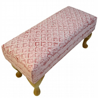 Pink Wafer Biscuit footstool