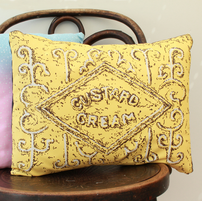 Custard Cream Biscuit Cushion (OUT OF STOCK)