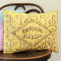 Custard Cream Biscuit Cushion