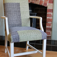 SALE! Patchwork Chair Green & Brown