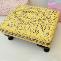Custard Cream Biscuit Footstool