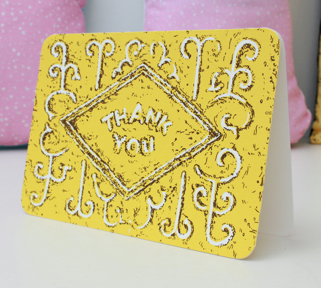 Thank You Custard Cream Biscuit card