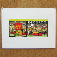 Jumbo Records - Giclee art print