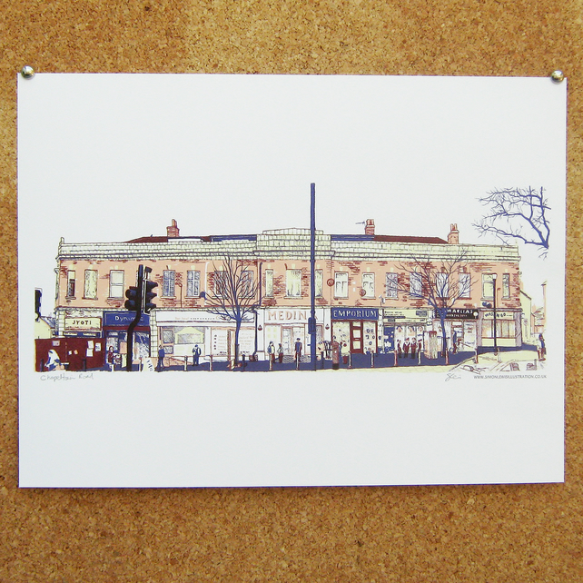 Chapeltown Road Art Print - Leeds Poster