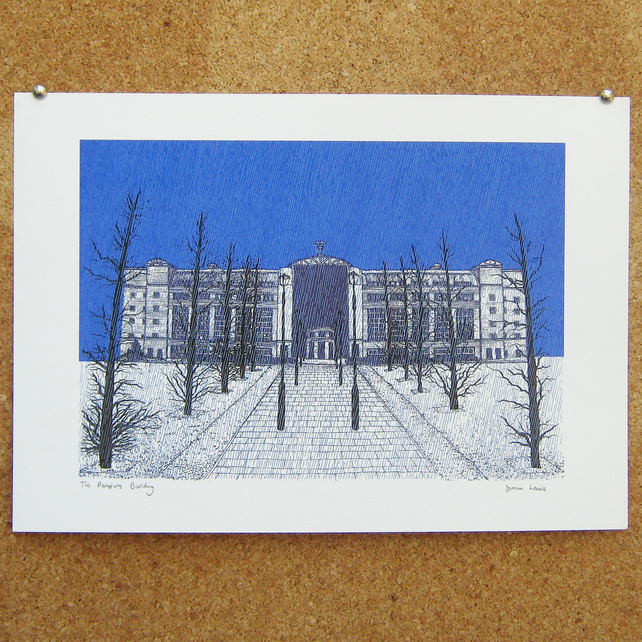 The Pensions Building Art Print - Leeds Poster