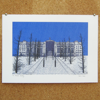 The Pensions Building - Giclee art print