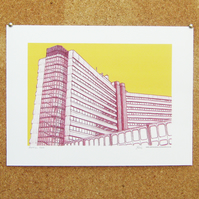 Merrion House Art Print - Leeds Print