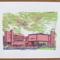 The Yorkshire Post Building - Leeds Screenprint Art