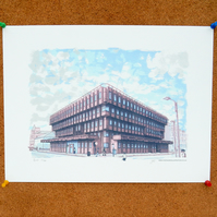 Bank House - Giclee art print