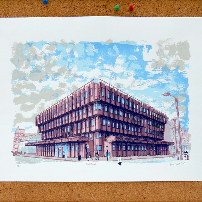 Bank House - Leeds Screenprint Art