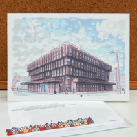 Bank House - Leeds Greetings Card