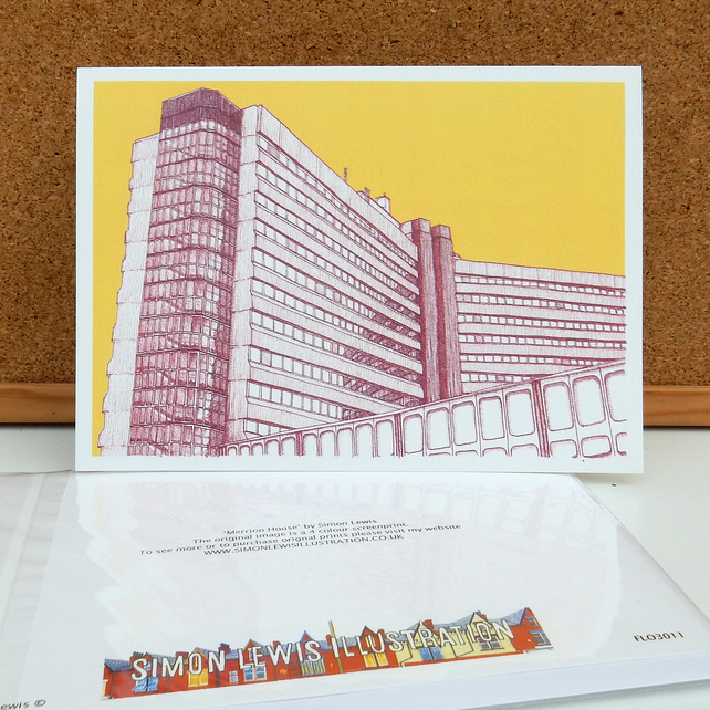 Merrion House - Leeds Greetings Card