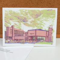 the Yorkshire Post Building - Leeds Greetings Card