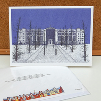 Pensions Building Greeting Card