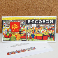Jumbo Records Greeting Card