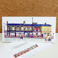Harrogate Road - Chapel Allerton - Leeds Greetings Card