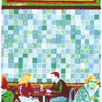 The Tiled Hall Cafe - Leeds Screenprint Art
