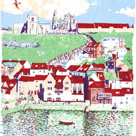 Whitby - Yorkshire Screenprint Art