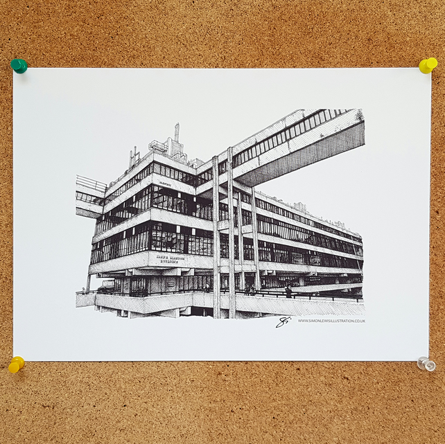 Irene Manton Building, Leeds University, Drawing - Leeds Poster