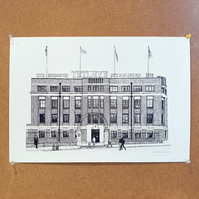 The Tetley - Drawing - Leeds Poster