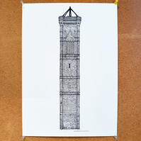 Tower Works III - Drawing - Leeds Poster