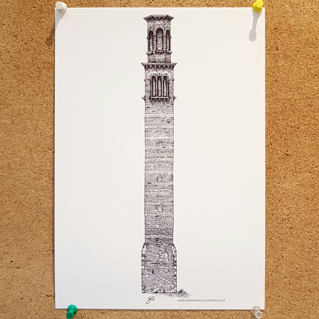 Tower works II - Drawing - Leeds Poster