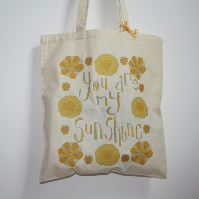 Sale You Are My Sunshine Tote Bag Folksy
