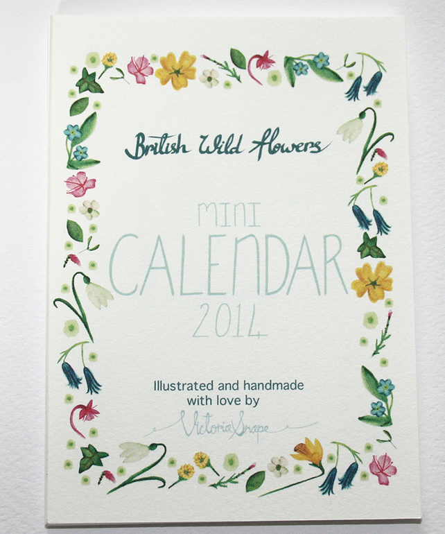 British wild flowers- mini 2014 calendar