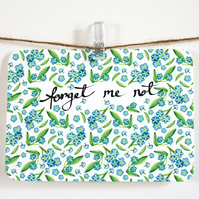 Forget me not- set of four notelets
