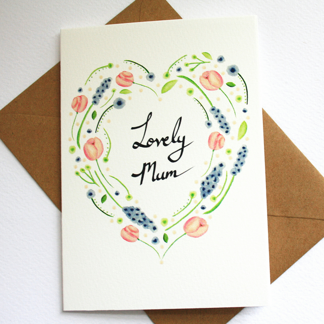 Lovely mum card