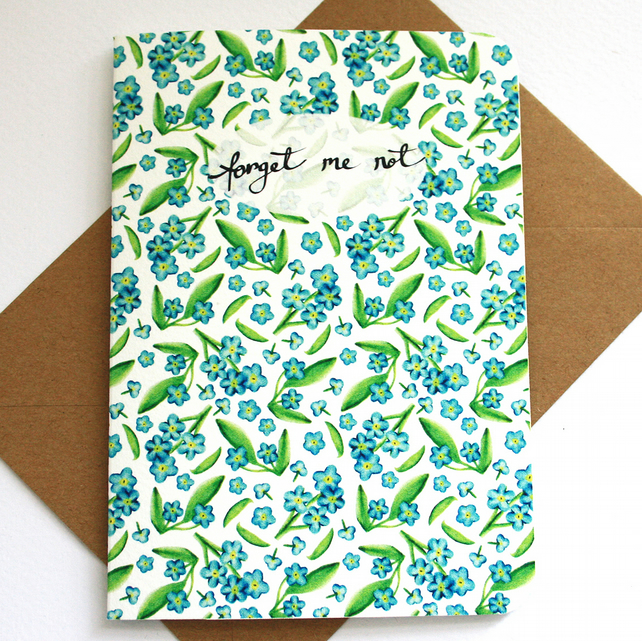 Forget me not pattern card