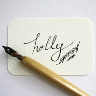 Calligraphy personalised wedding place card