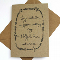 Personalised- Congratulations wedding card