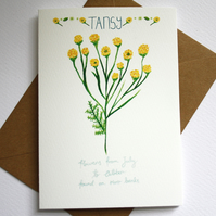 Tansy- British wildflower card