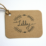 Woodland wedding personalised place tags- favour tags