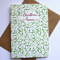 Christmas kisses pattern- Christmas card
