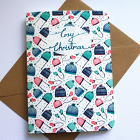 Cosy Christmas pattern- Christmas card