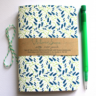 Set of two British wildflowers- Bluebell and Buttercup- hand bound notebooks
