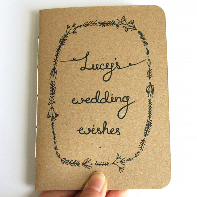 Personalised wedding planner- recycled handbound notebook