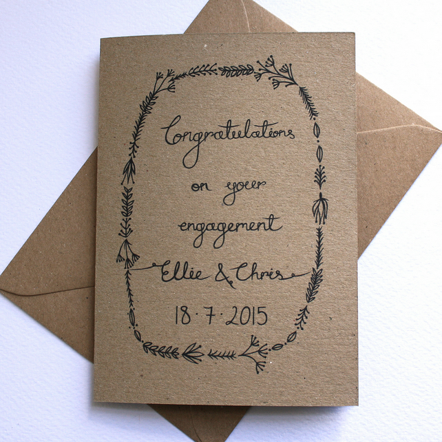 Personalised congratulations engagement card