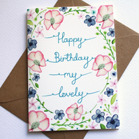 Happy Birthday my lovely card