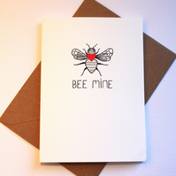 Bee mine valentines card